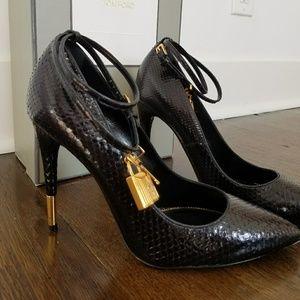 Tom Ford Black Python Stilettos Rare